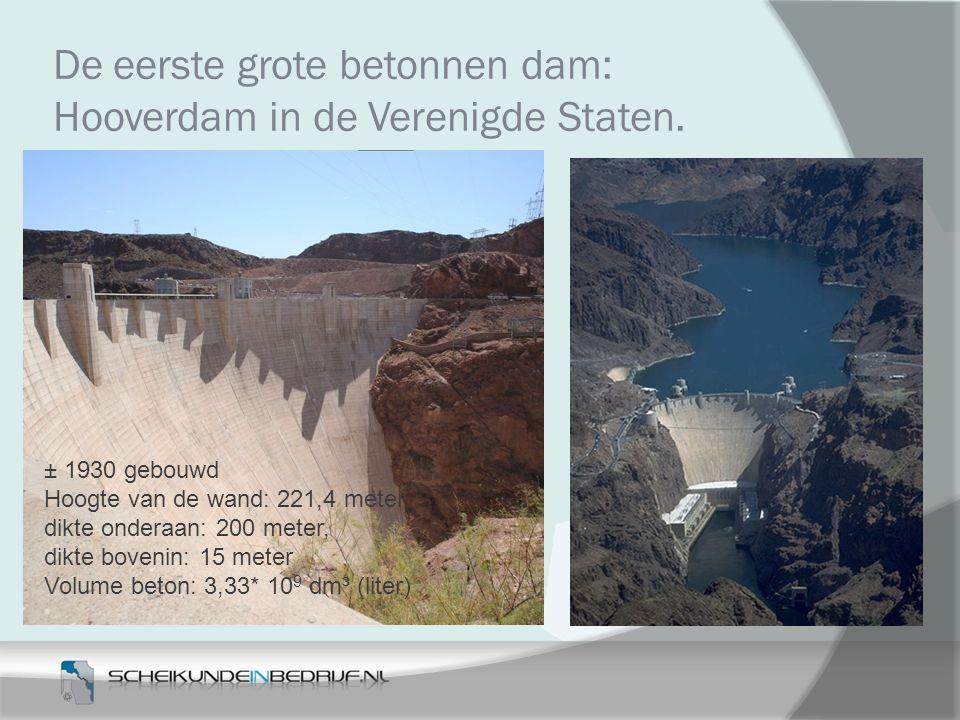 De eerste grote betonnen dam: Hooverdam in de Verenigde Staten.