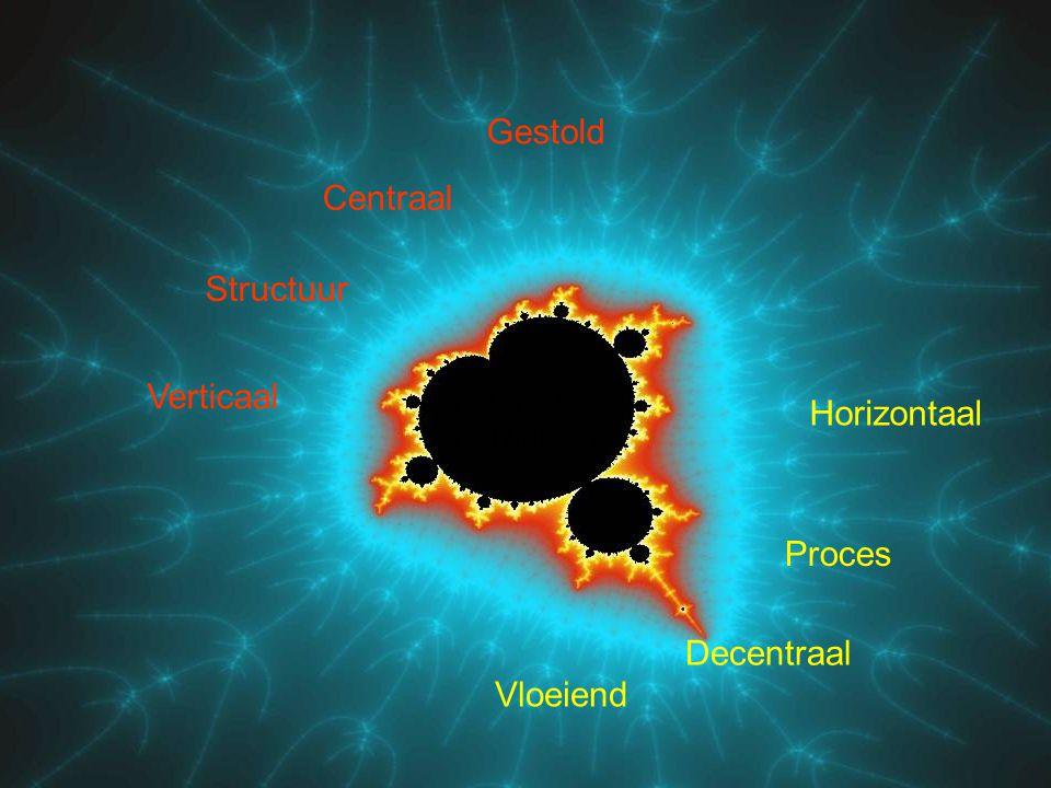 Gestold Centraal Structuur Verticaal Horizontaal Proces Decentraal