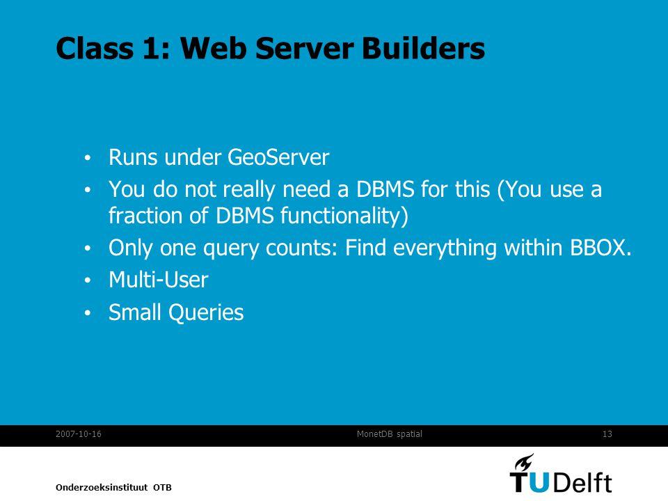 Class 1: Web Server Builders