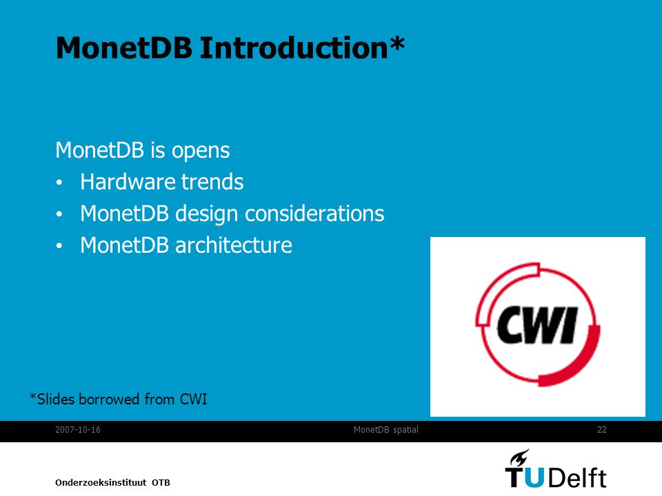 MonetDB Introduction*