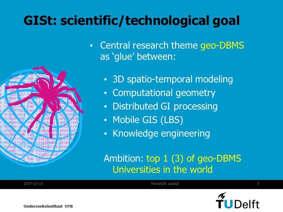 GISt: scientific/technological goal