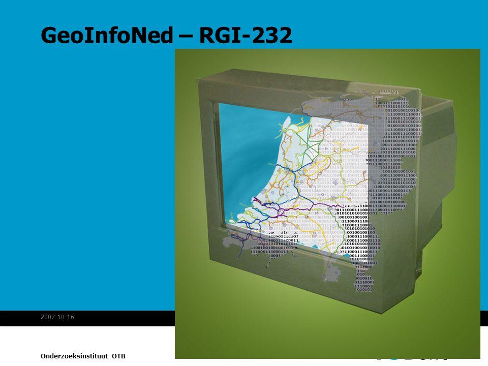 GeoInfoNed – RGI-232 2007-10-16 MonetDB spatial
