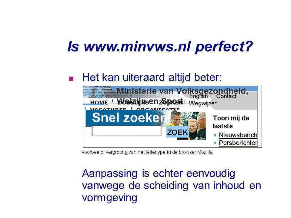 Is www.minvws.nl perfect