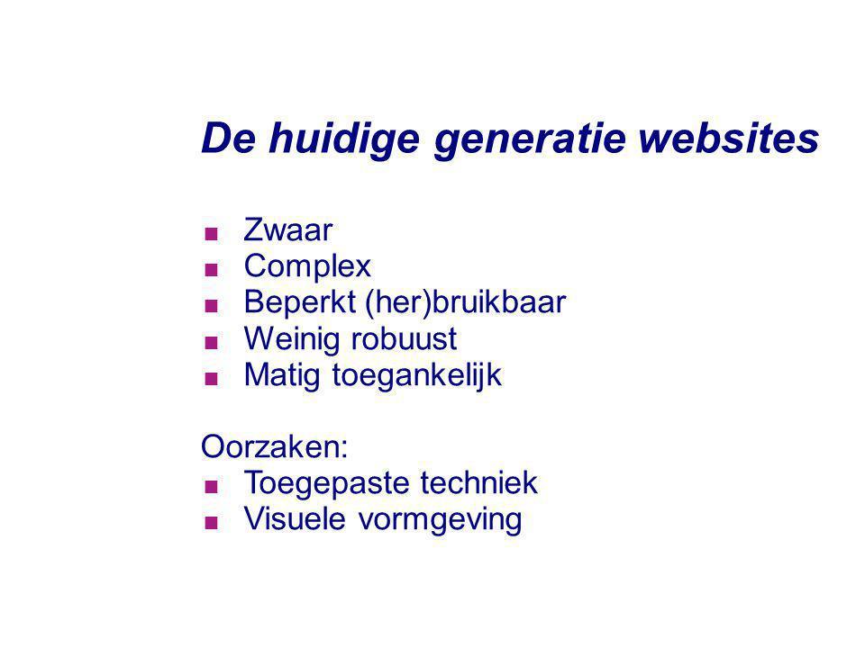 De huidige generatie websites