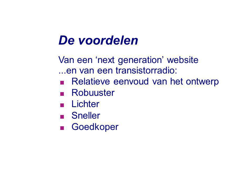 De voordelen Van een 'next generation' website
