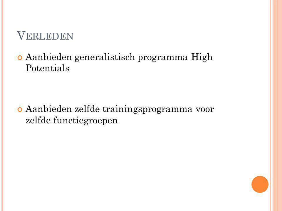 Verleden Aanbieden generalistisch programma High Potentials