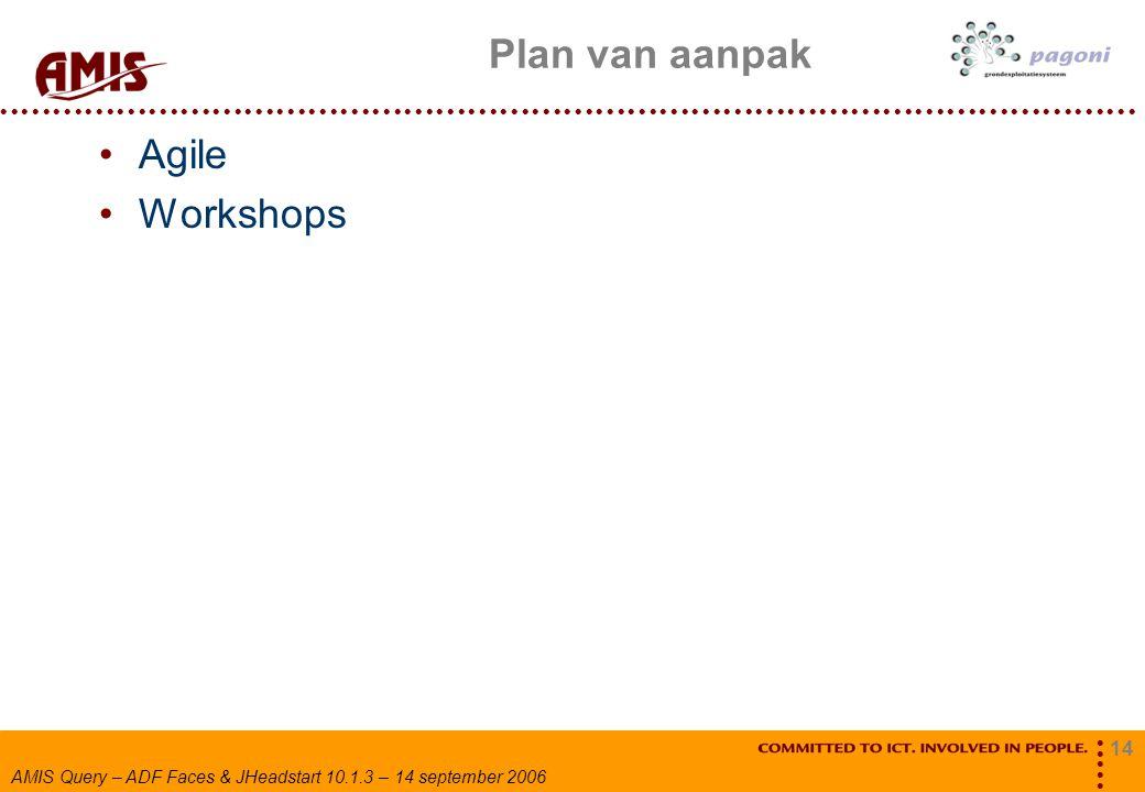 Plan van aanpak Agile Workshops