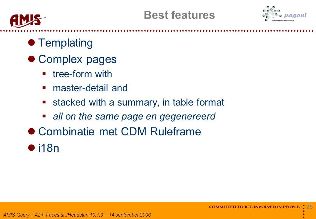 Combinatie met CDM Ruleframe i18n
