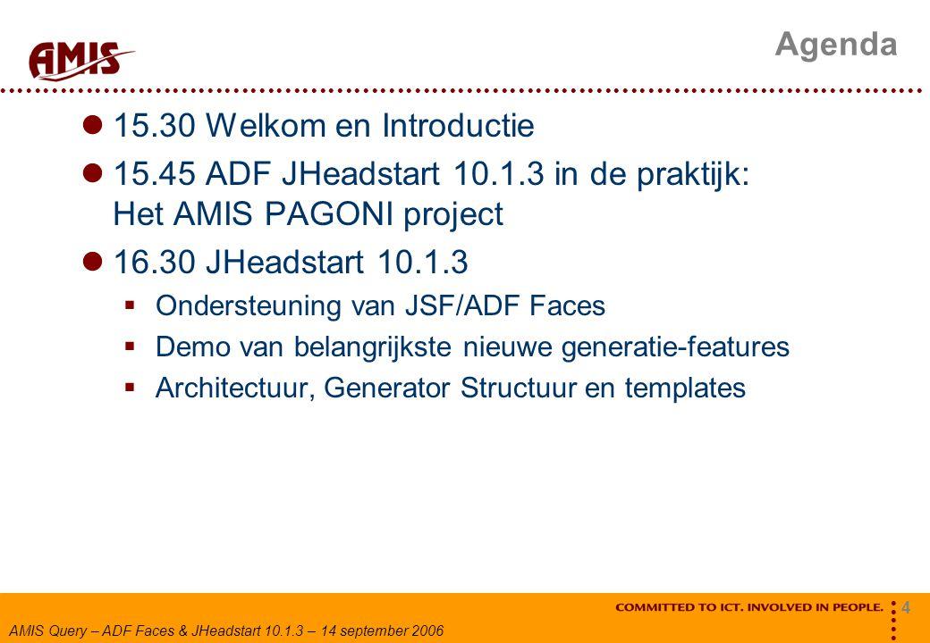 15.45 ADF JHeadstart 10.1.3 in de praktijk: Het AMIS PAGONI project