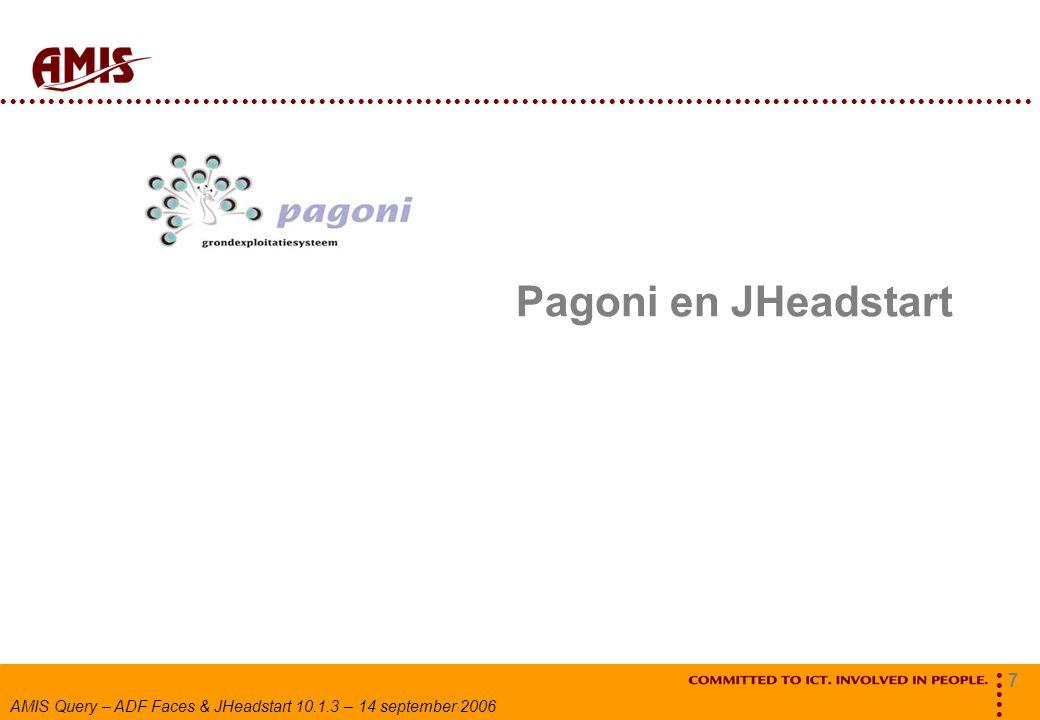 Pagoni en JHeadstart
