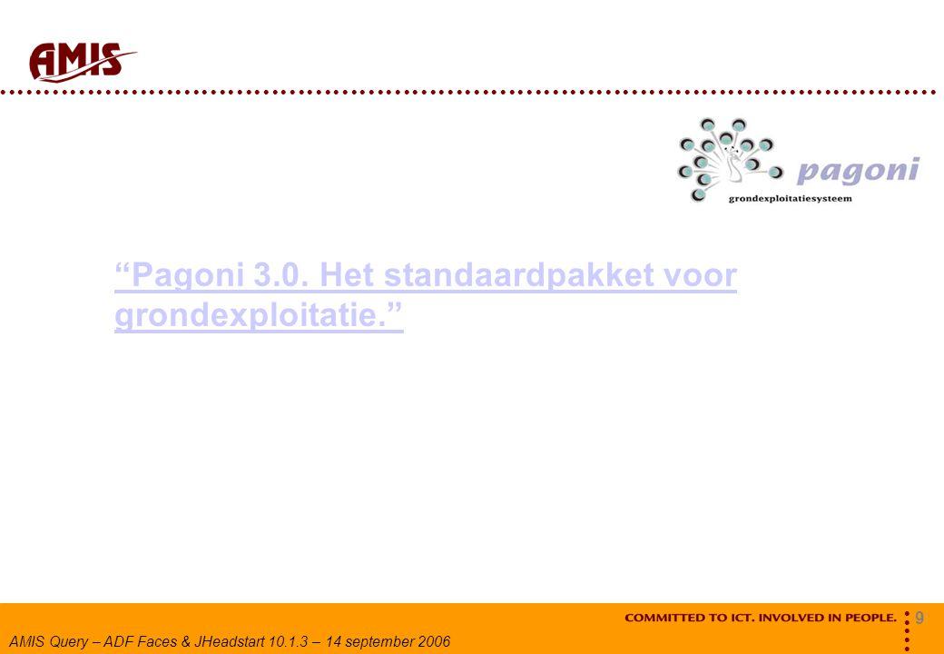 Pagoni 3.0. Het standaardpakket voor grondexploitatie.