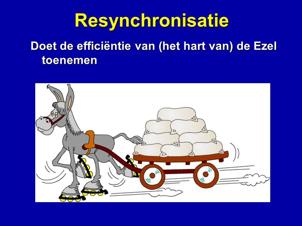 Resynchronisatie Doet de efficiëntie van (het hart van) de Ezel toenemen