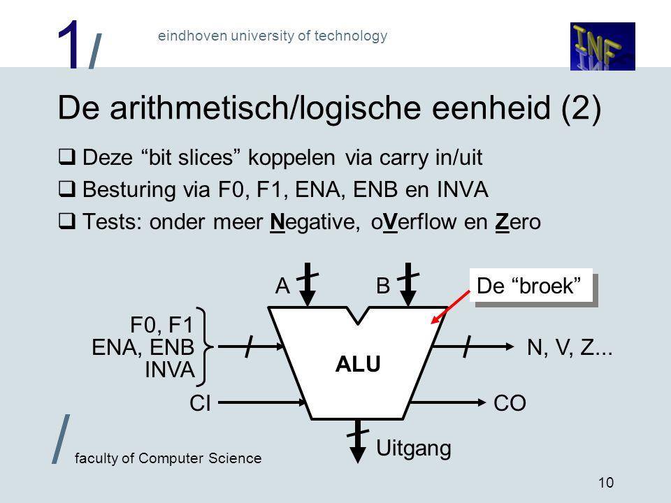 De arithmetisch/logische eenheid (2)