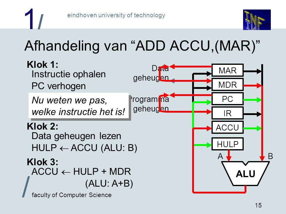 Afhandeling van ADD ACCU,(MAR)