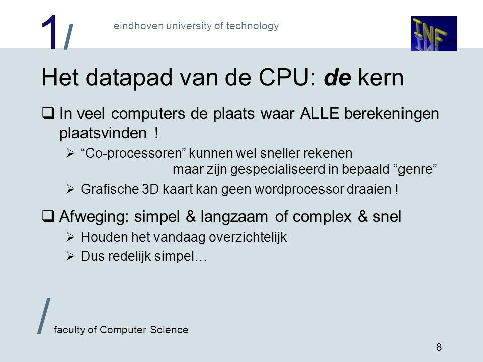 Het datapad van de CPU: de kern