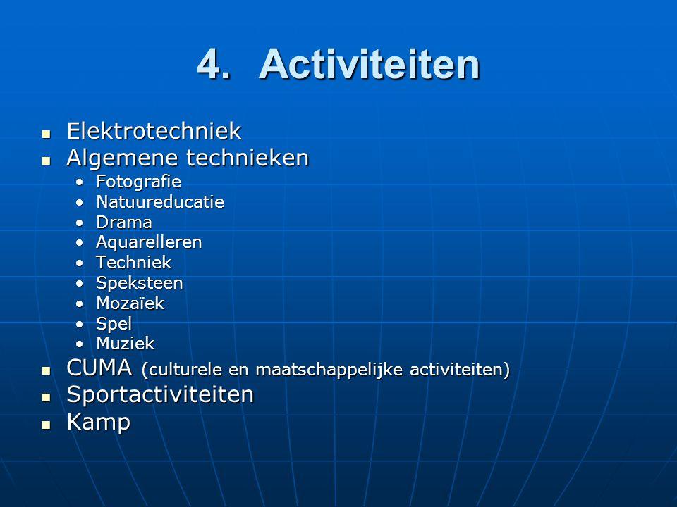 4. Activiteiten Elektrotechniek Algemene technieken