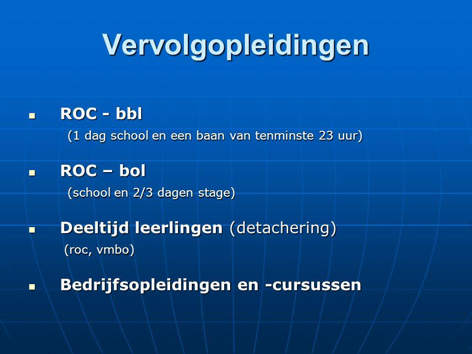 Vervolgopleidingen ROC - bbl