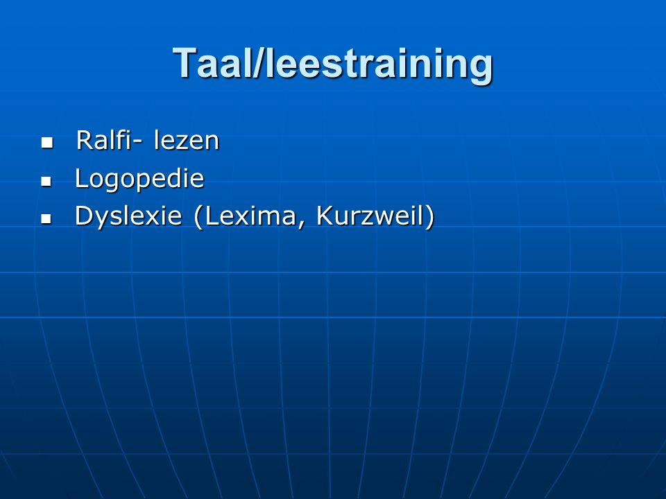 Taal/leestraining Ralfi- lezen Logopedie Dyslexie (Lexima, Kurzweil)