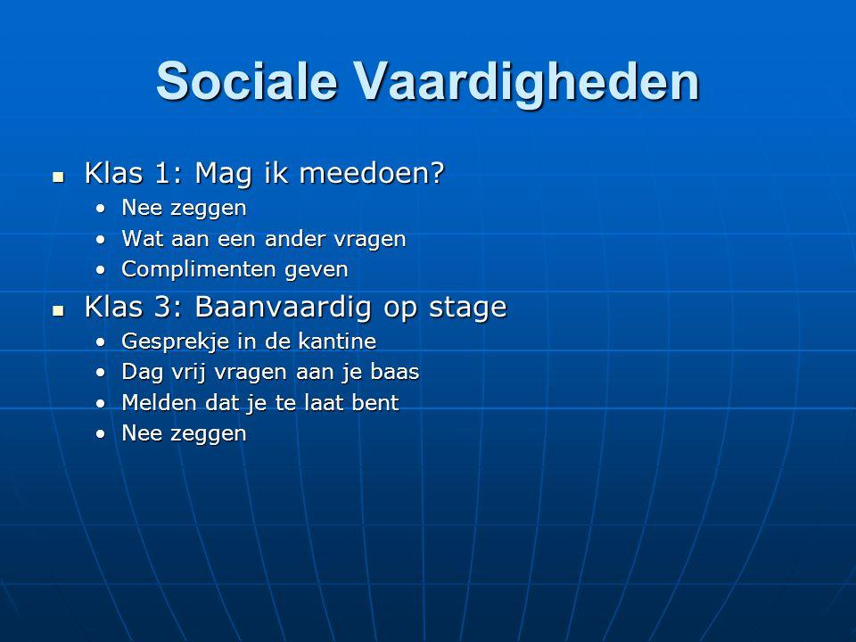 Sociale Vaardigheden Klas 1: Mag ik meedoen