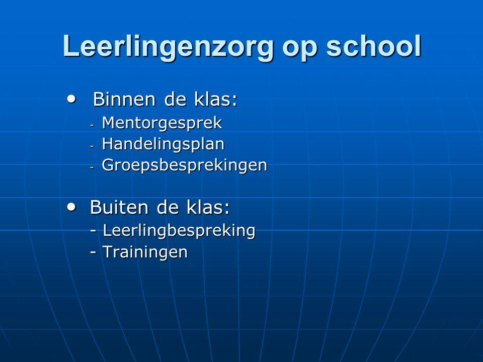 Leerlingenzorg op school