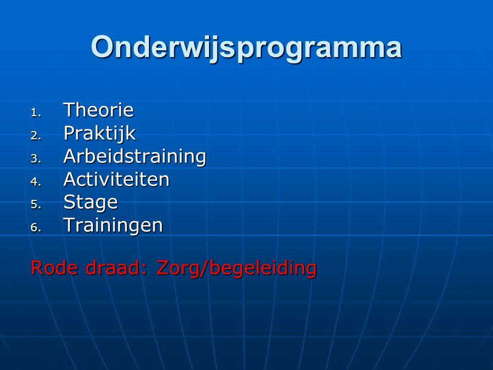 Onderwijsprogramma Theorie Praktijk Arbeidstraining Activiteiten Stage