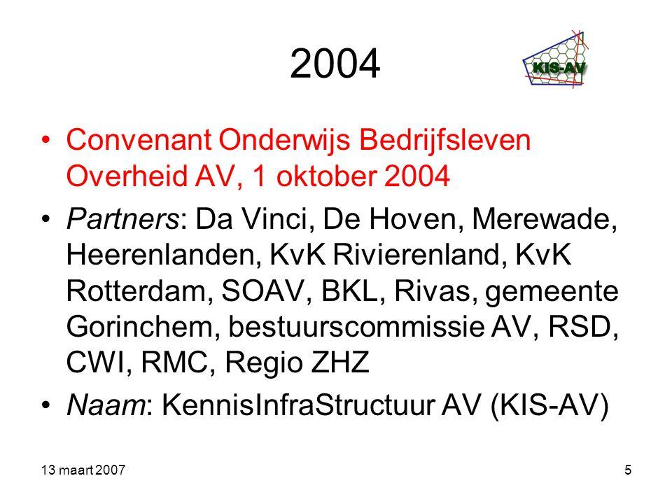 2004 Convenant Onderwijs Bedrijfsleven Overheid AV, 1 oktober 2004