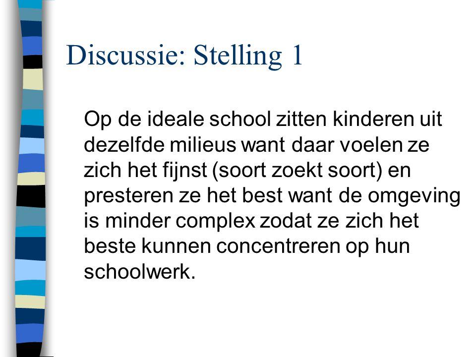 Discussie: Stelling 1