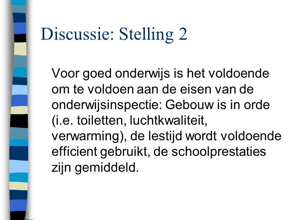 Discussie: Stelling 2