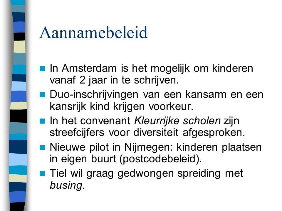 Aannamebeleid In Amsterdam is het mogelijk om kinderen vanaf 2 jaar in te schrijven.