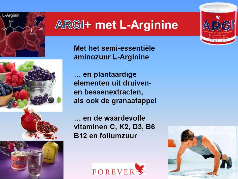 ARGI+ met L-Arginine Met het semi-essentiële aminozuur L-Arginine