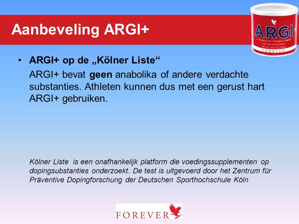 "Aanbeveling ARGI+ ARGI+ op de ""Kölner Liste"