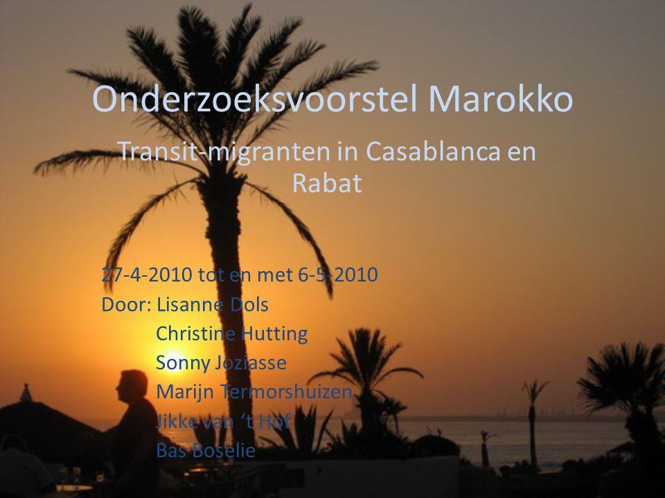 Onderzoeksvoorstel Marokko
