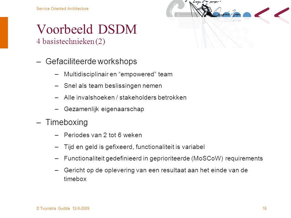 Voorbeeld DSDM 4 basistechnieken (2)