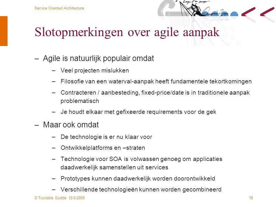 Slotopmerkingen over agile aanpak