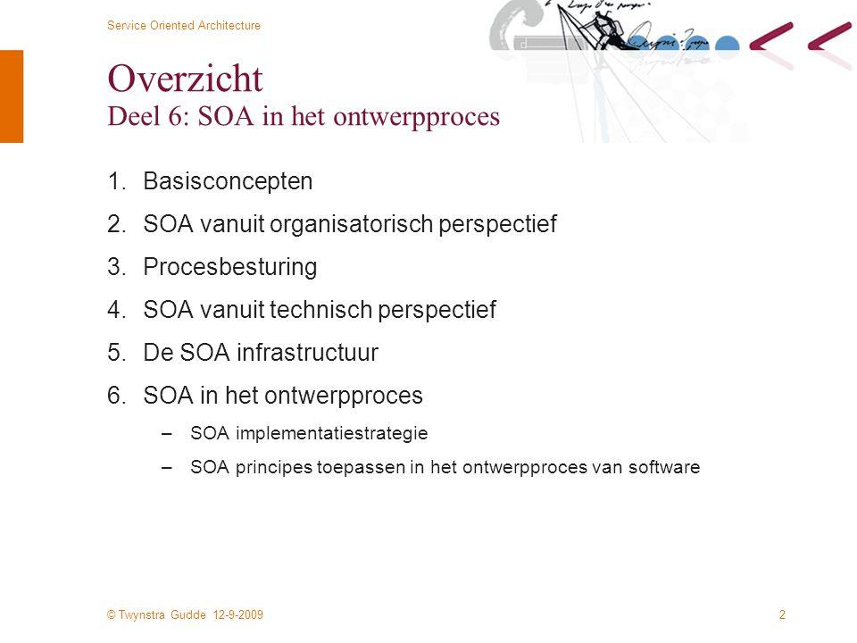 Overzicht Deel 6: SOA in het ontwerpproces