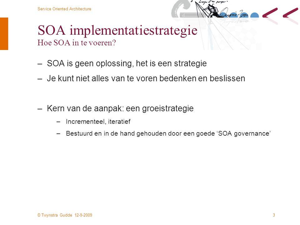 SOA implementatiestrategie Hoe SOA in te voeren