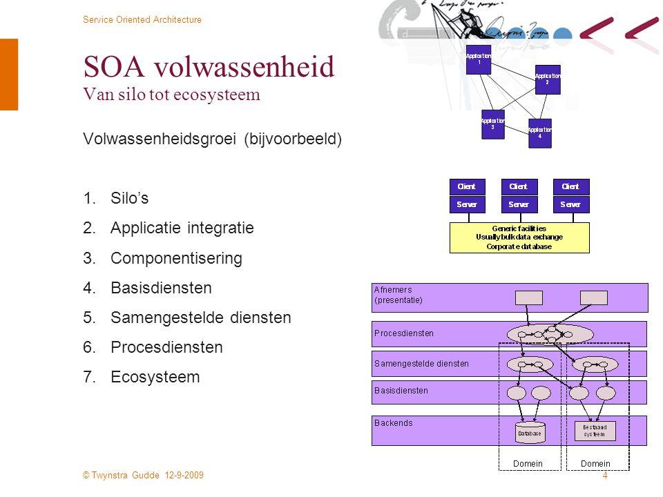 SOA volwassenheid Van silo tot ecosysteem
