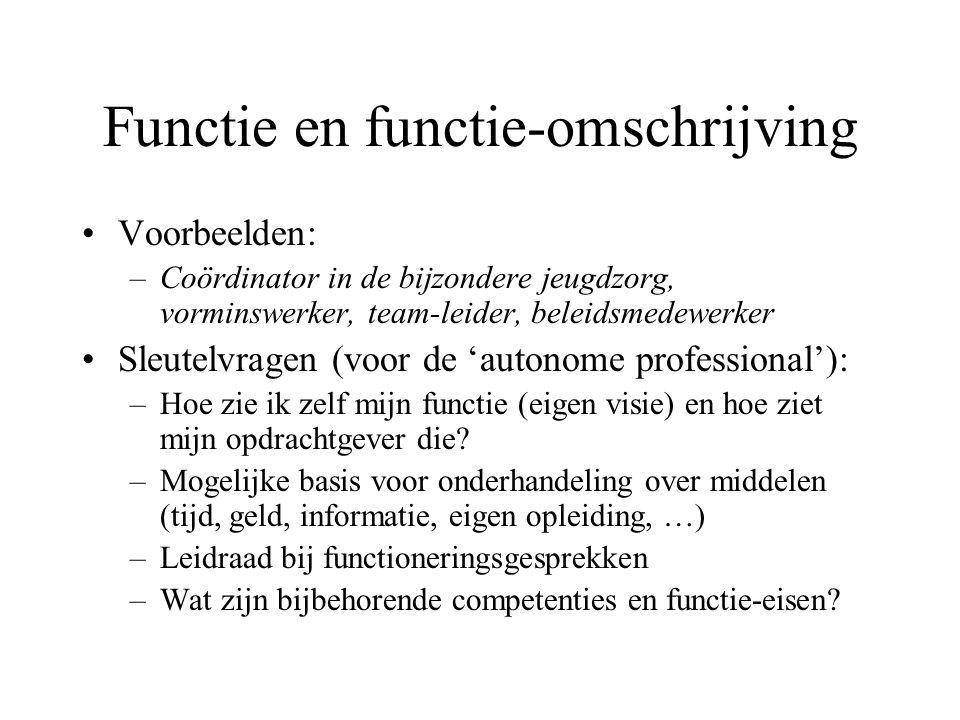 Functie en functie-omschrijving