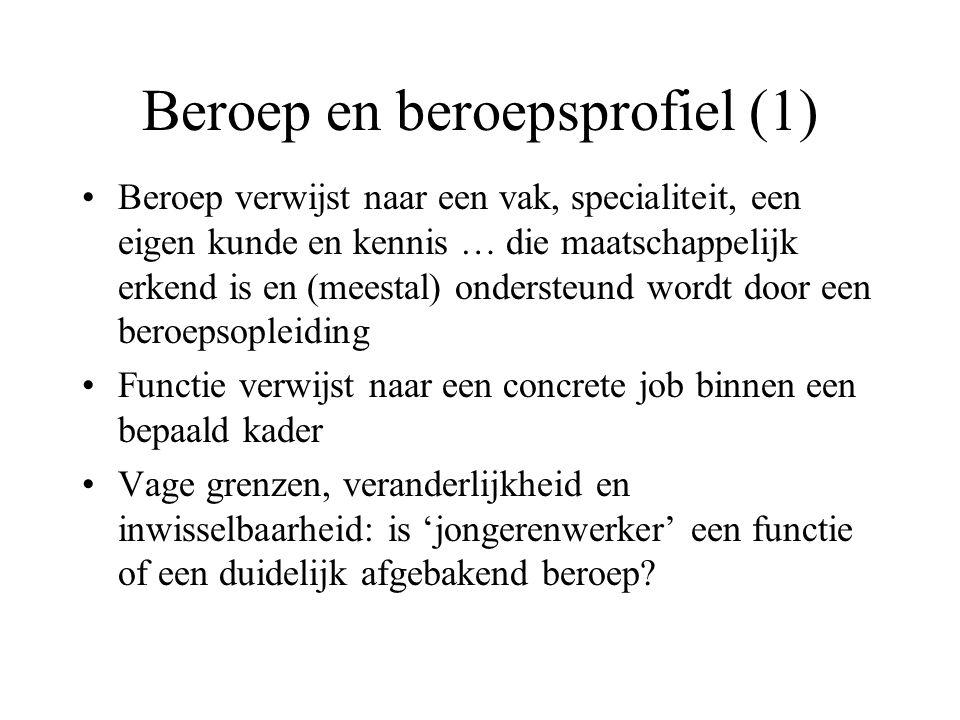 Beroep en beroepsprofiel (1)