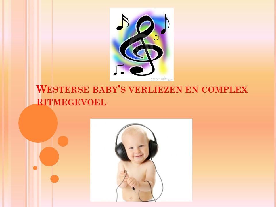 Westerse baby's verliezen en complex ritmegevoel