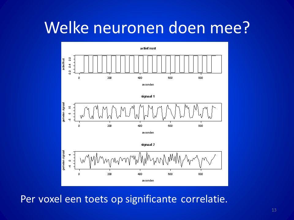 Welke neuronen doen mee