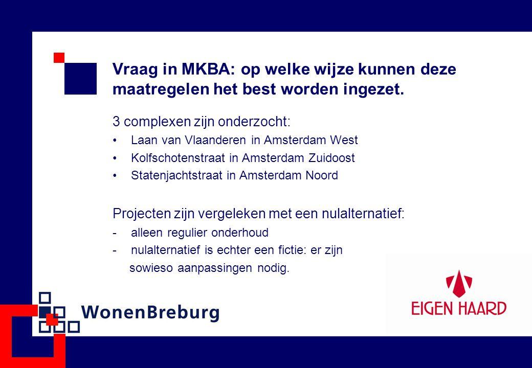 Vraag in MKBA: op welke wijze kunnen deze maatregelen het best worden ingezet.