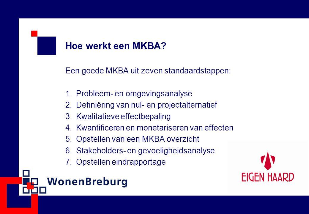 Hoe werkt een MKBA Een goede MKBA uit zeven standaardstappen: