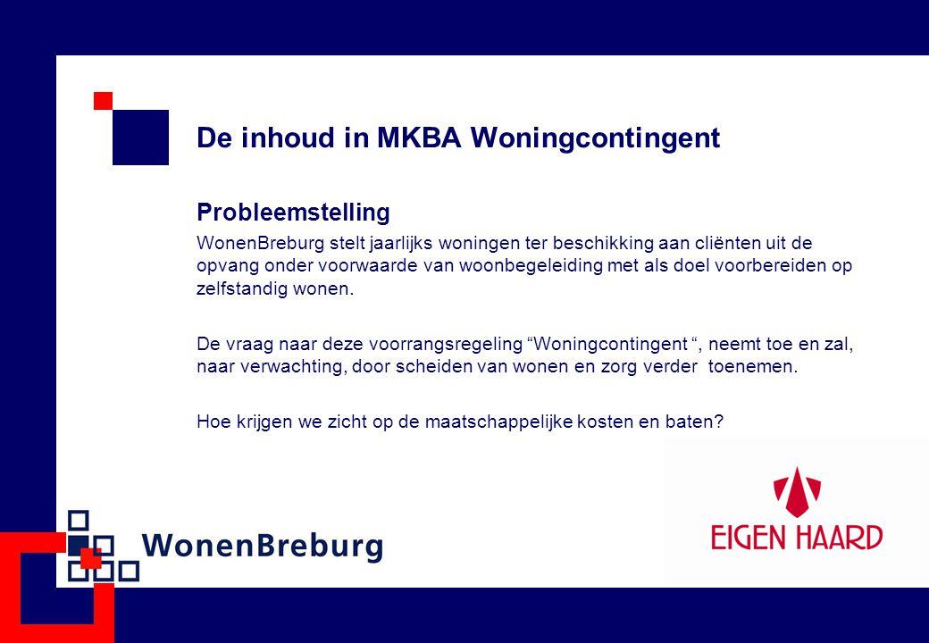 De inhoud in MKBA Woningcontingent