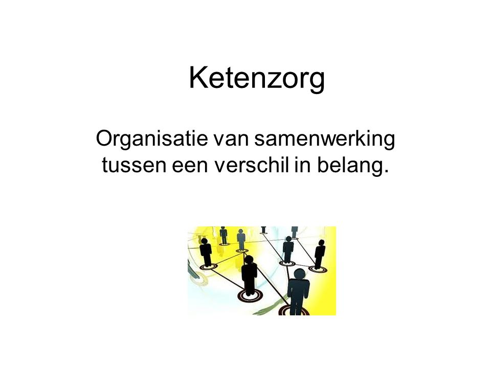 Organisatie van samenwerking tussen een verschil in belang.