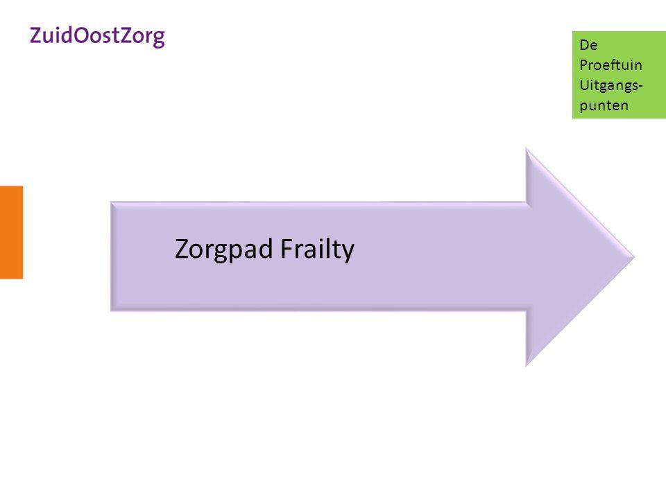De Proeftuin Uitgangs-punten Zorgpad Frailty