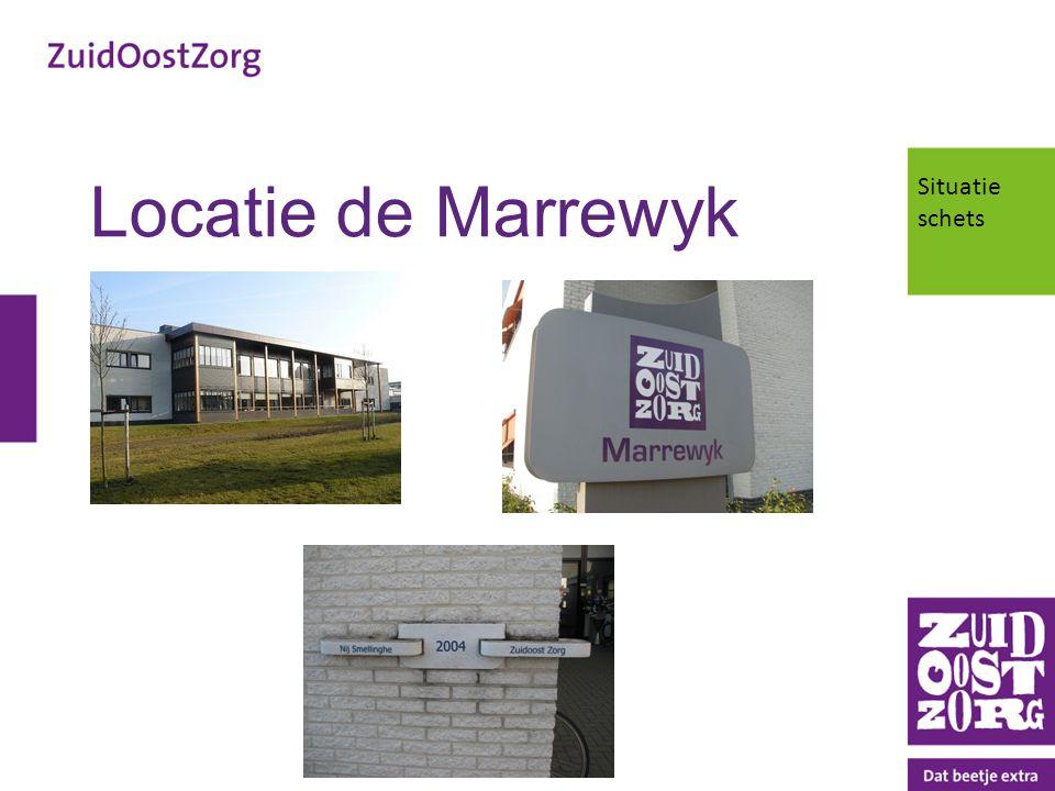 Locatie de Marrewyk Situatie schets Plaatje/foto Marrewyk plaatsen