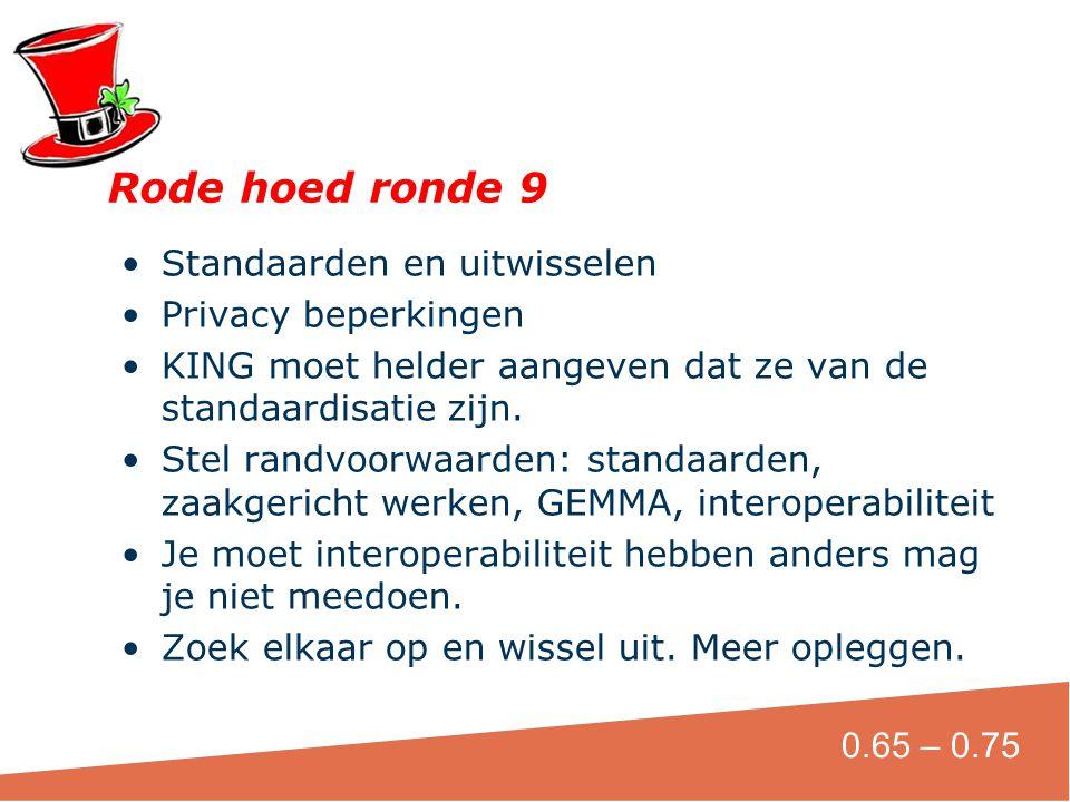Rode hoed ronde 9 Standaarden en uitwisselen Privacy beperkingen