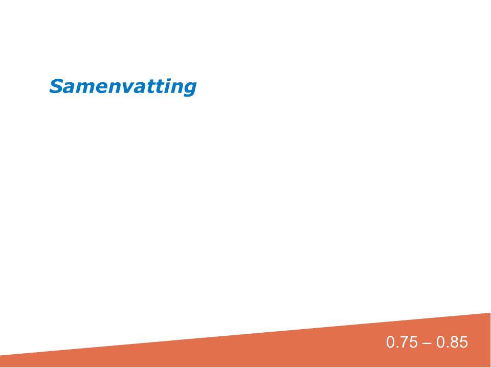Samenvatting Aantekeningen verslaglegger; Deze goed vastleggen 0.75 – 0.85