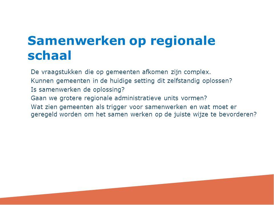 Samenwerken op regionale schaal